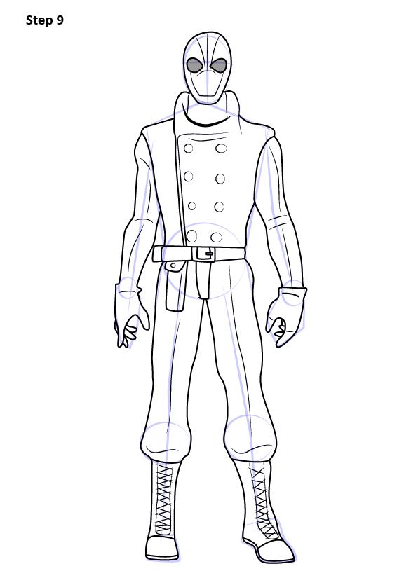 Рисуем Человека Паука нуар9
