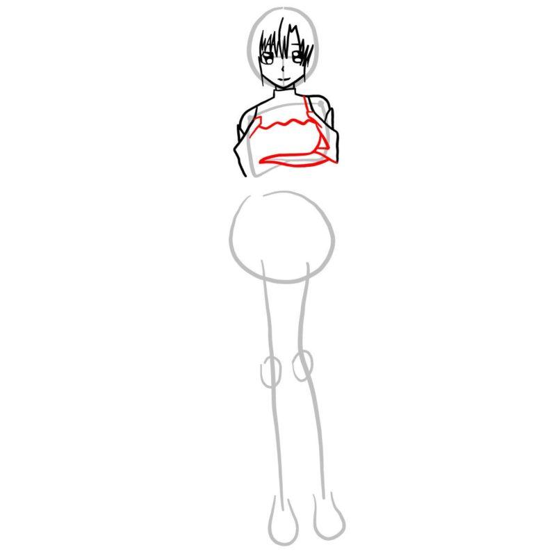 Как нарисовать Асуну 6