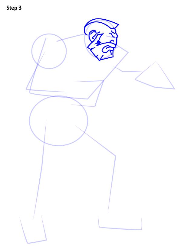 Как нарисовать Зангиева 3