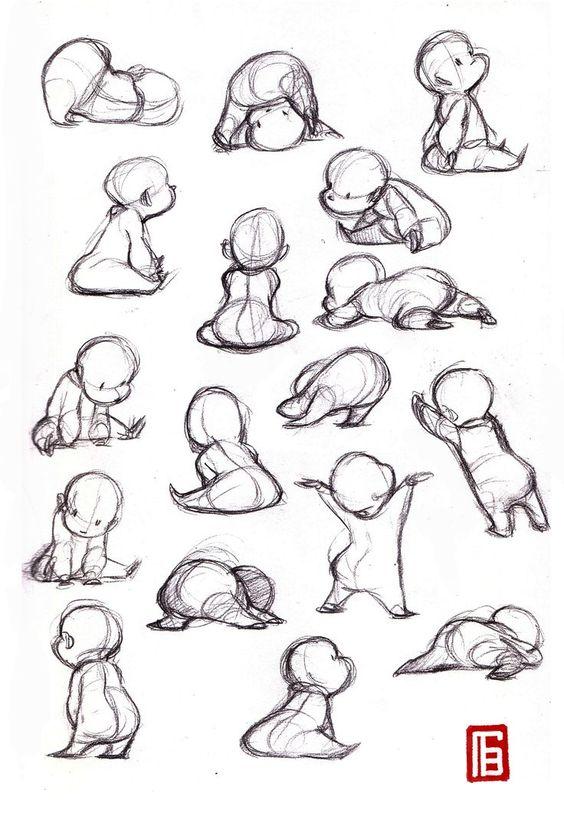 Рисуем детские позы