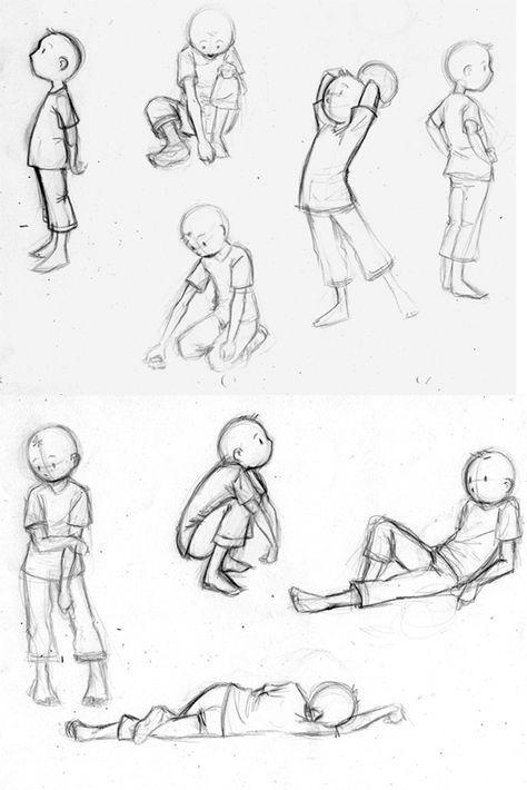 Рисуем детские позы 2