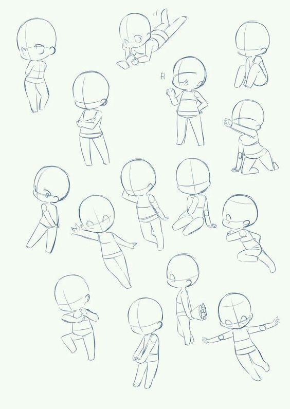 Как нарисовать позы ребенка