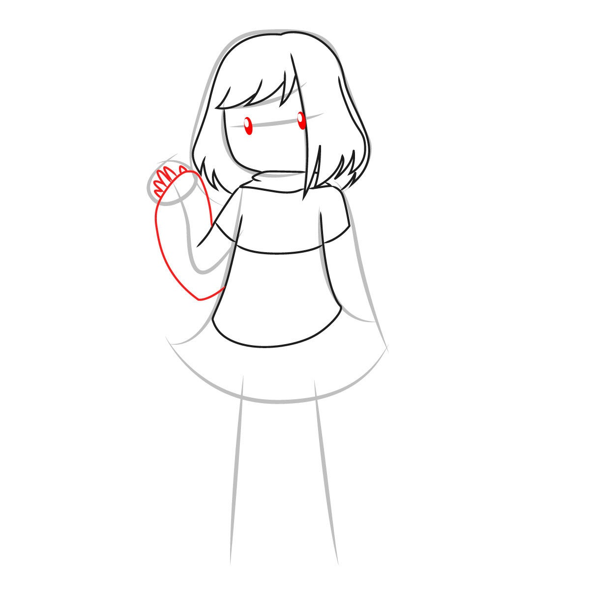 как нарисовать Бет Нуар 6
