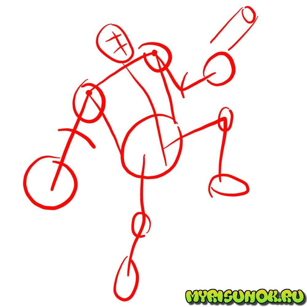 Как нарисовать Хеллбоя 1