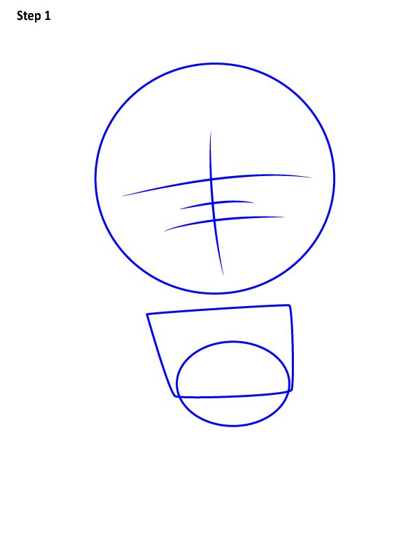 Рисуем просто Хеллбоя 1
