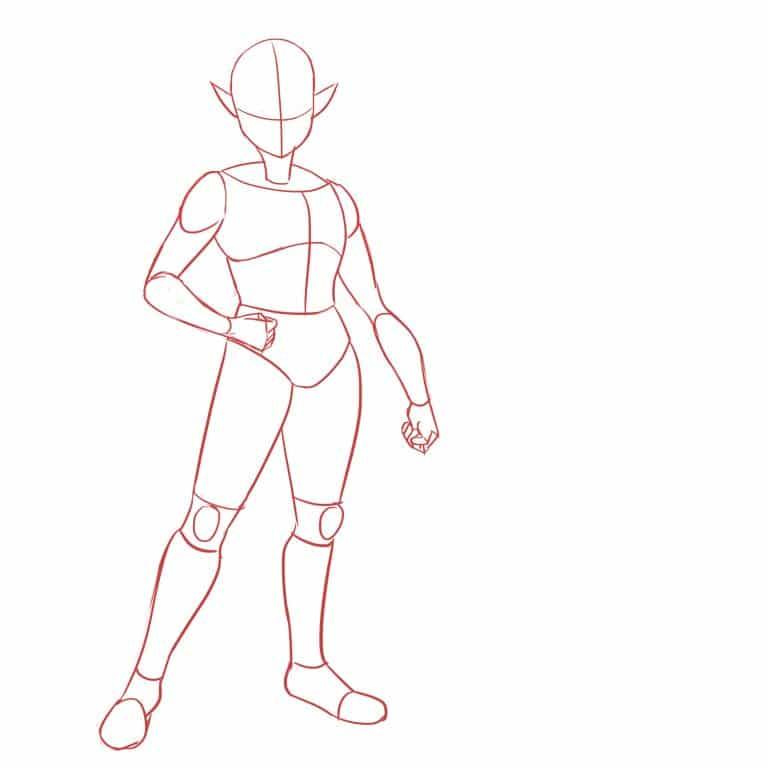как нарисовать LINK FROM ZELDA 4