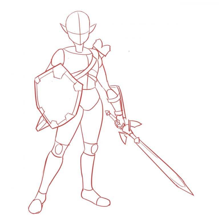 как нарисовать LINK FROM ZELDA 5
