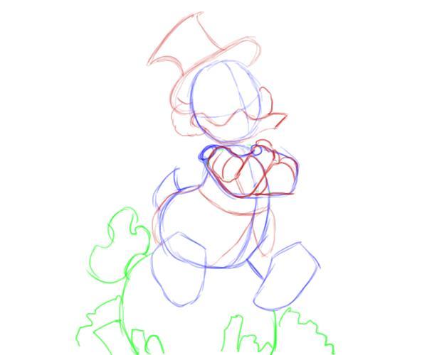 Как нарисовать Скруджа Макдака 3