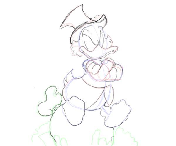 Как нарисовать Скруджа Макдака 4