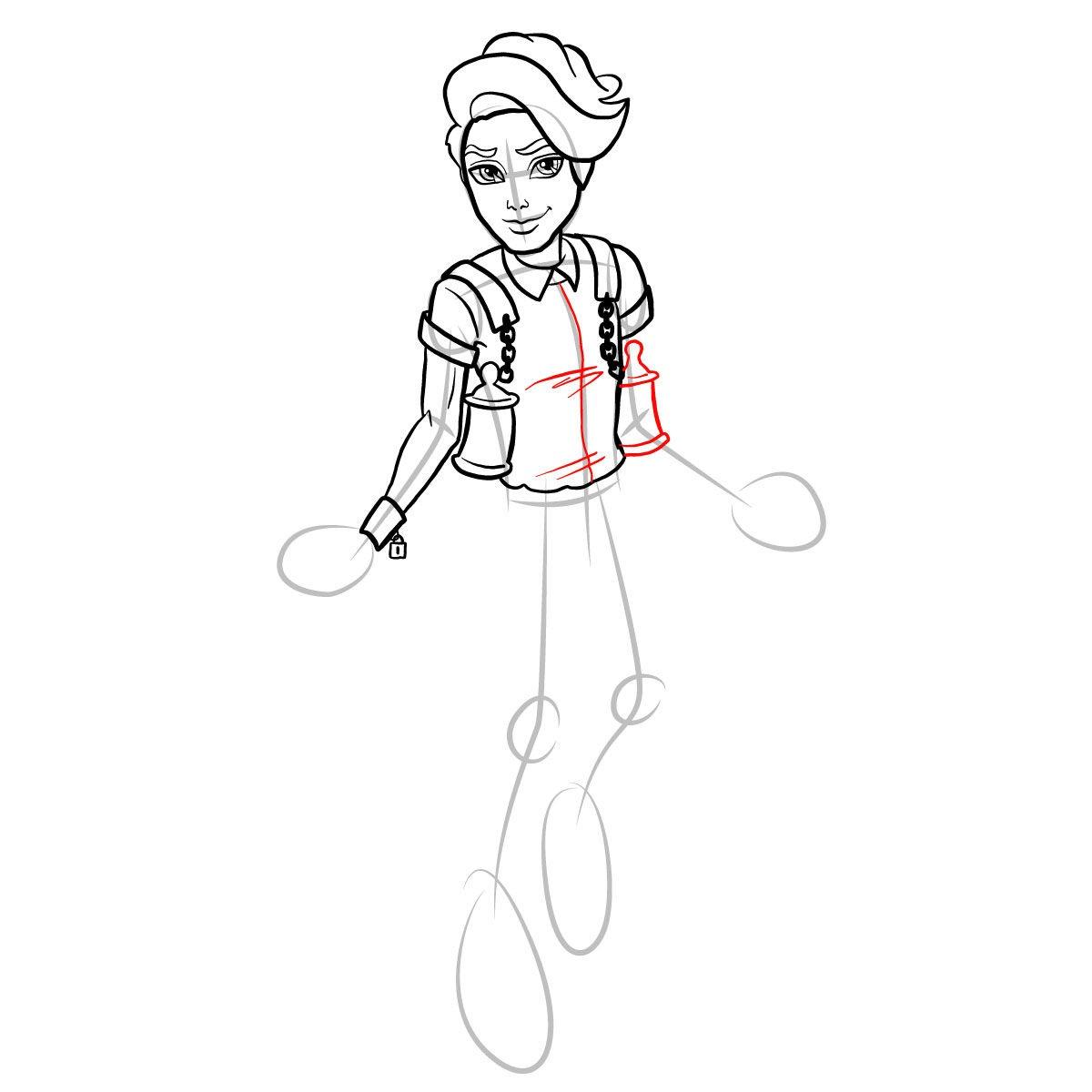 Как нарисовать Портера Гейсса 11