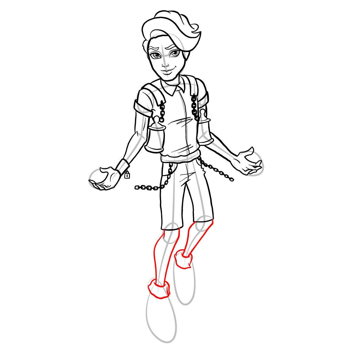 Как нарисовать Портера Гейсса 15