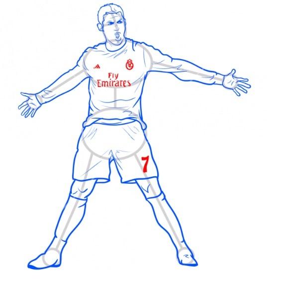 Как нарисовать Роналду 10