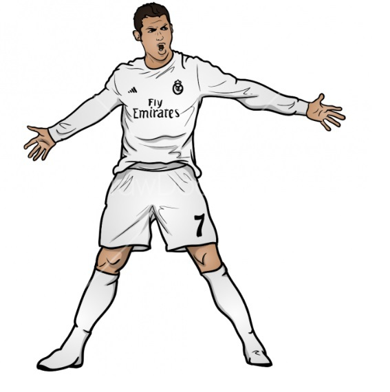Как нарисовать Роналду 11