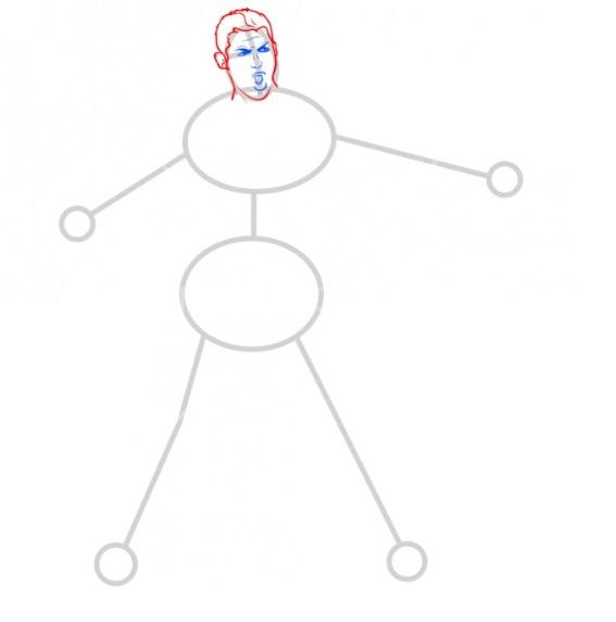 Как нарисовать Роналду 4