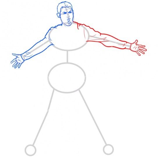 Как нарисовать Роналду 6