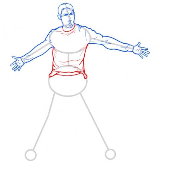 Как нарисовать Роналду 7