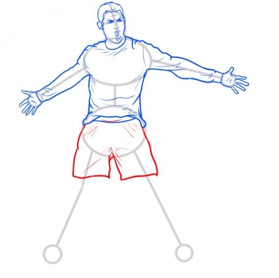 Как нарисовать Роналду 8