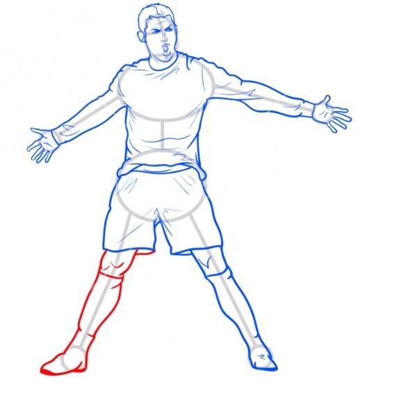 Как нарисовать Роналду 9
