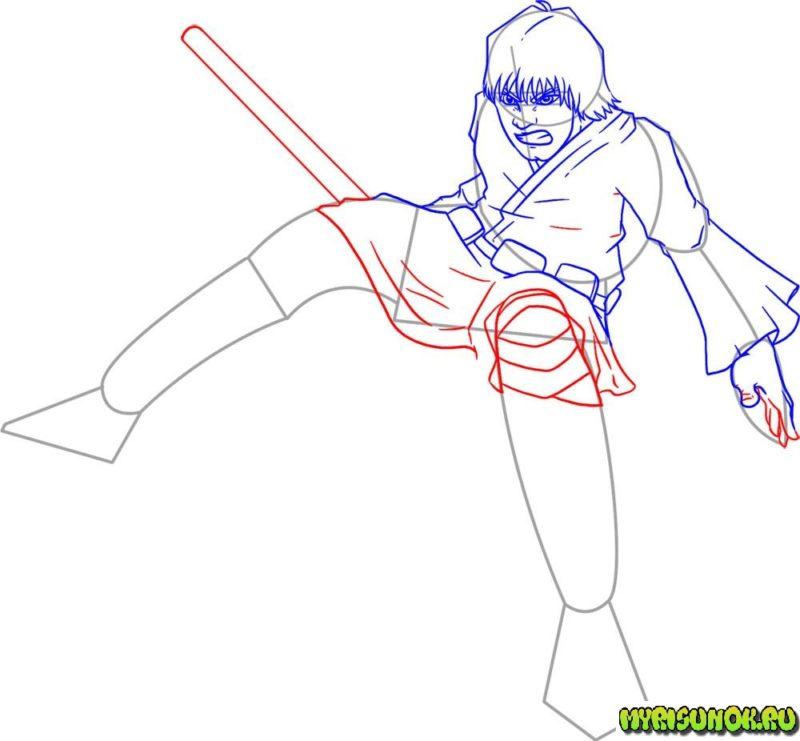 Как нарисовать Люка Скайуокера 12