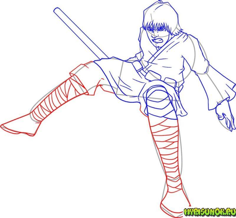 Как нарисовать Люка Скайуокера 11