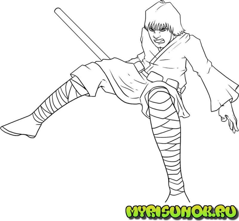 Как нарисовать Люка Скайуокера 10
