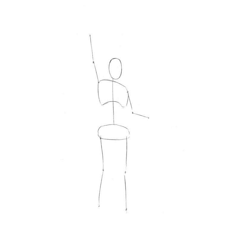 Как нарисовать Статую Свободы 1