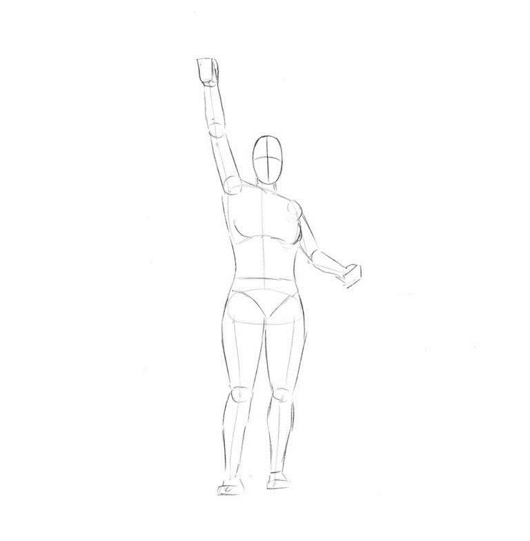 Как нарисовать Статую Свободы 2