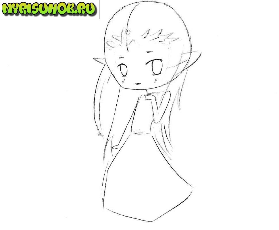 Как нарисовать Зельду 4