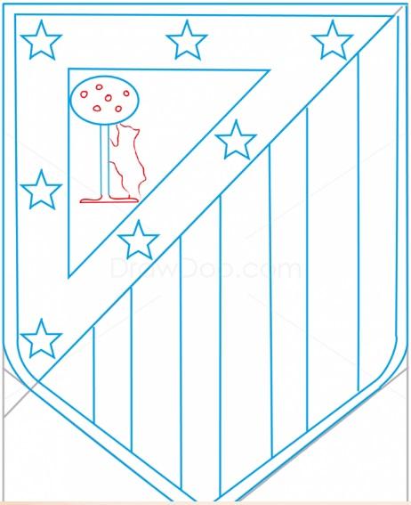 как нарисовать эмблему атлетико мадрид 10