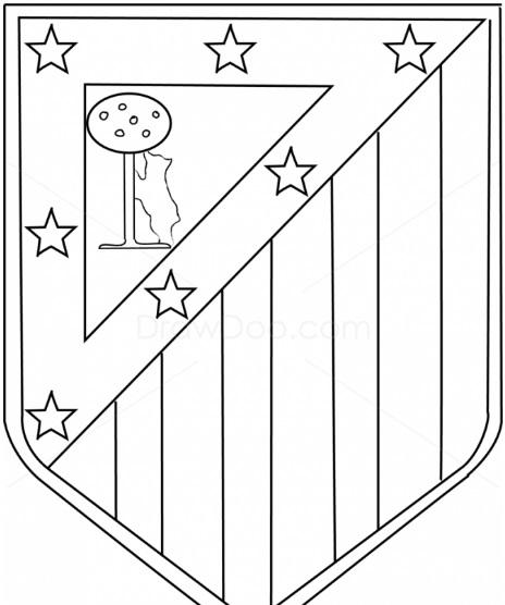 как нарисовать эмблему атлетико мадрид 11