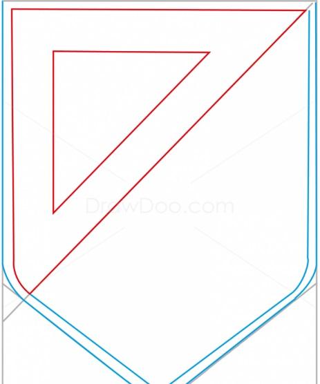 как нарисовать эмблему атлетико мадрид 4