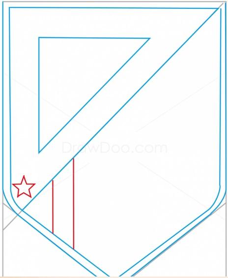 как нарисовать эмблему атлетико мадрид 5