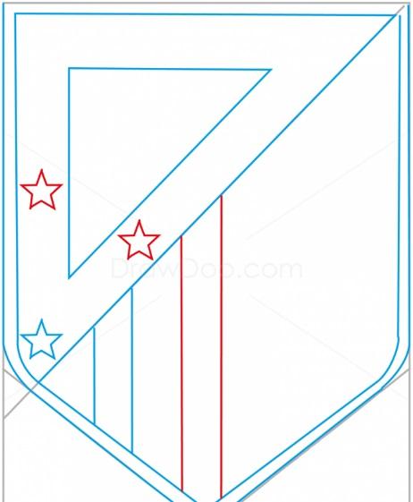 как нарисовать эмблему атлетико мадрид 6