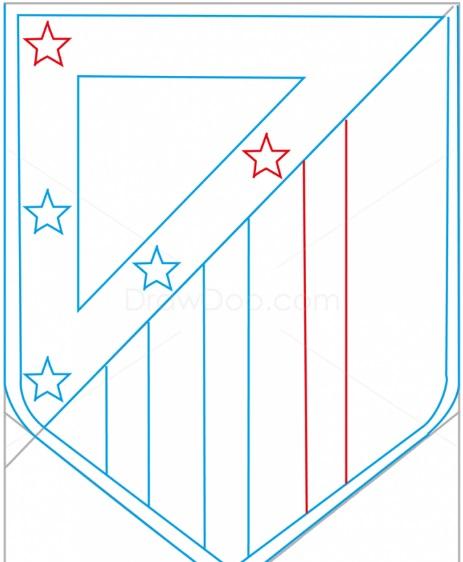 как нарисовать эмблему атлетико мадрид 7