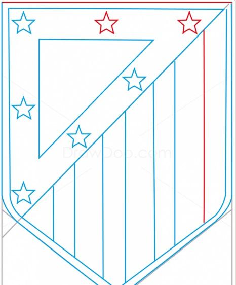 как нарисовать эмблему атлетико мадрид 8