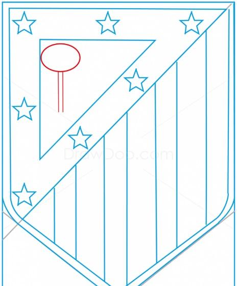 как нарисовать эмблему атлетико мадрид 9