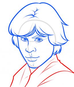 Как нарисовать Люка Скайуокера 18