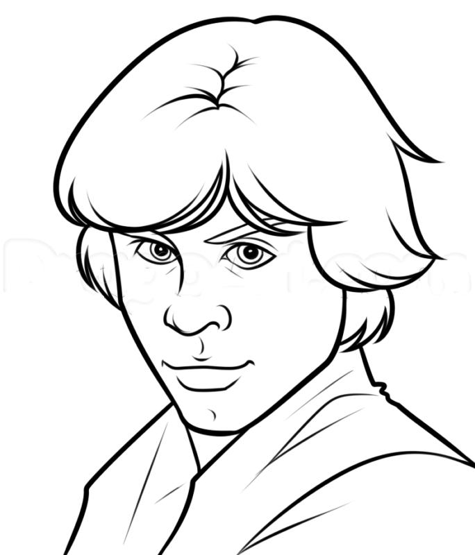 Как нарисовать Люка Скайуокера 17