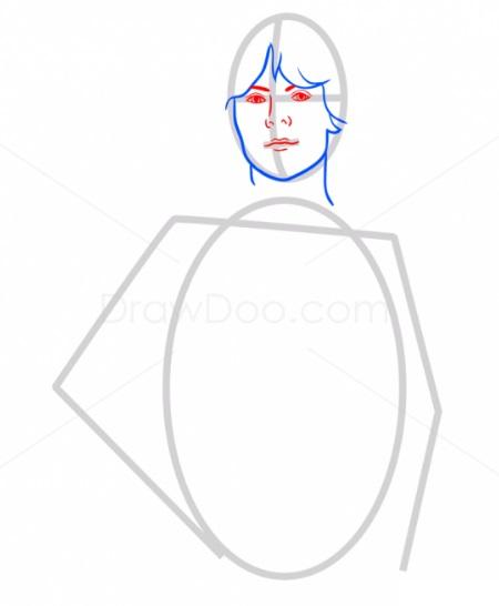 Как нарисовать Люка Скайуокера 3