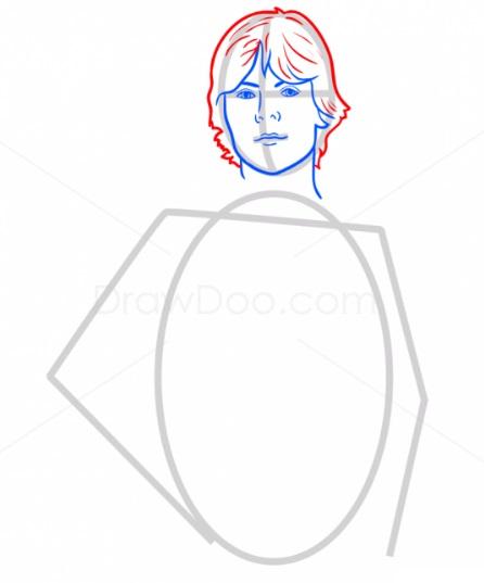 Как нарисовать Люка Скайуокера 4