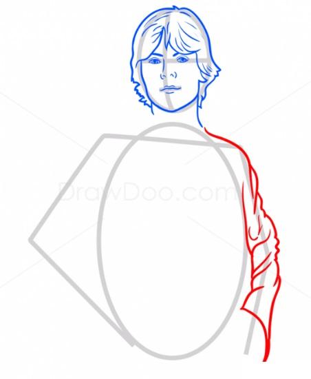 Как нарисовать Люка Скайуокера 5