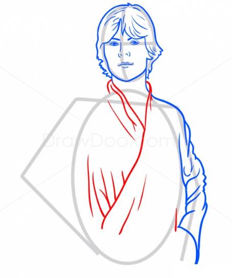 Как нарисовать Люка Скайуокера 6