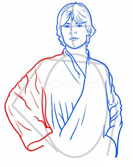 Как нарисовать Люка Скайуокера 7