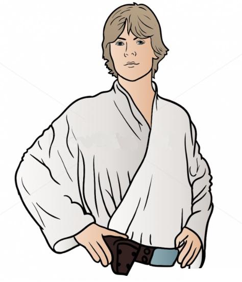 Как нарисовать Люка Скайуокера 9