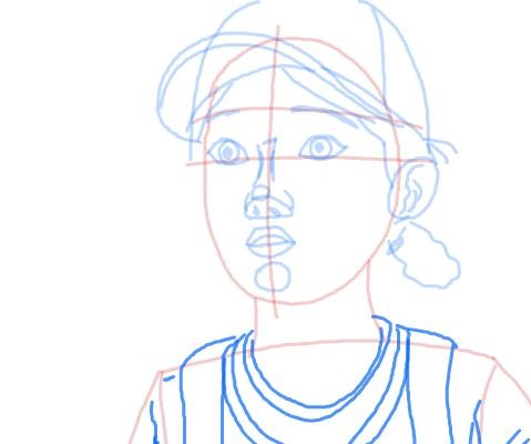 Как нарисовать Клементину из игры 8