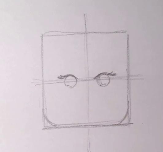 Как нарисовать Дикарку из лего 3