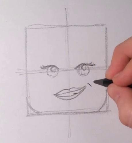 Как нарисовать Дикарку из лего 4