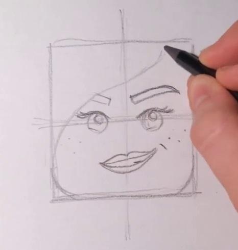 Как нарисовать Дикарку из лего 5