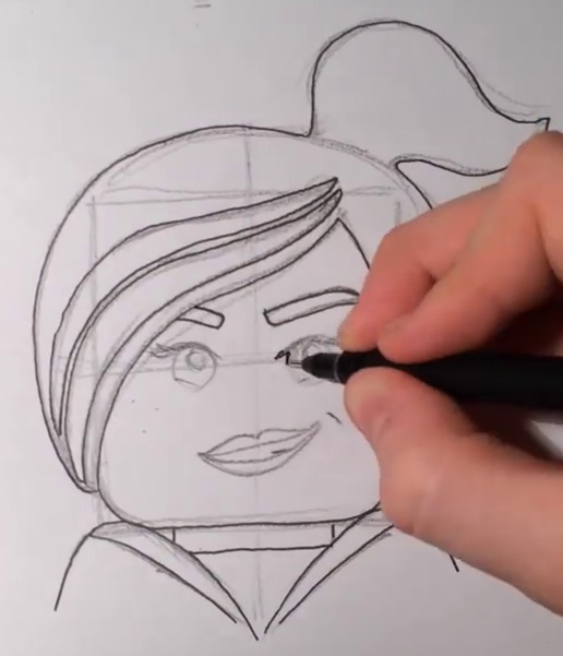 Как нарисовать Дикарку из лего 9