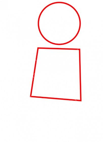 Как нарисовать лего Эммета 1